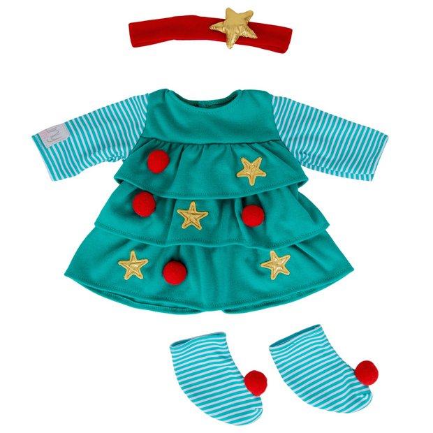 Buy Tiny Treasures Christmas Tree Dress Doll Clothes Argos