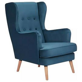 Buy Habitat Callie Fabric Wingback Chair Teal Armchairs And Chairs Argos