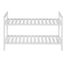 Habitat Kitt Bamboo 2 Shelf Shoe Rack - White