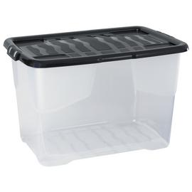 Strata 65 Litre Curve Plastic Box with Lid - Set of 3
