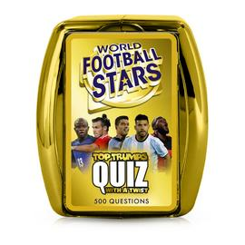 World Football Stars Top Trumps Quiz Card Game