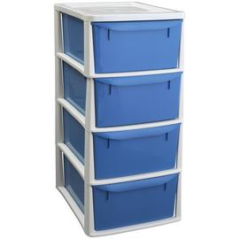 Argos Home 4 Drawer Tower - Blue