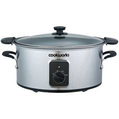 Cookworks 4.5L Searing Slow Cooker - Stainless Steel
