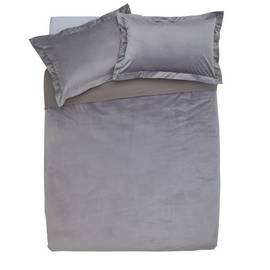 Argos Home Grey Velvet Bedding Set - Double