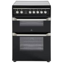 Indesit ID60C2 Double Electric Cooker - Black