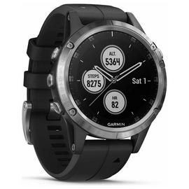 Garmin Fenix 5 Plus GPS Smart Watch - Silver & Black