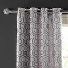 Argos Home Lined Eyelet Curtains - Geometric