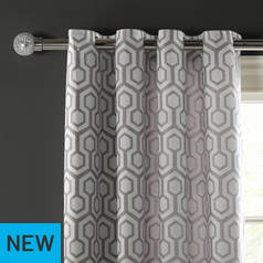 Argos Home Lined Eyelet Curtains