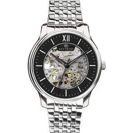 Accurist Men's Silver Stainless Steel Skeleton Watch