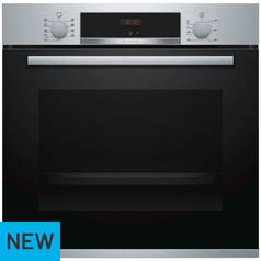 Bosch HBS534BS0B Single Electric Cooker - Stainless Steel