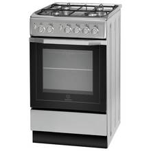 Indesit I5GG1S Single Gas Cooker - Silver