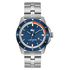 Lacoste Mens Durban Blue Dial Stainless Steel Bracelet Watch