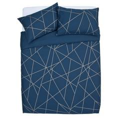 Argos Home Fineline Geometric Bedding Set - Superking
