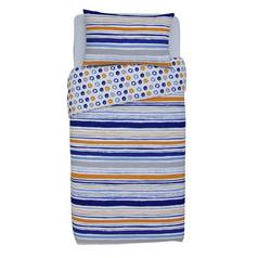 Argos Home Dark Multicoloured Stripe Bedding Set - Single