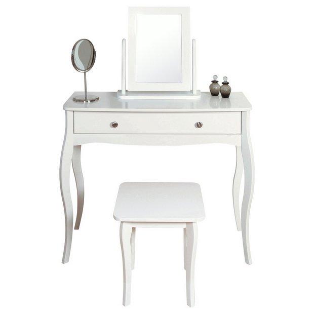 Enjoyable Buy Argos Home Amelie Dressing Table Mirror And Stool White Dressing Tables Argos Ncnpc Chair Design For Home Ncnpcorg