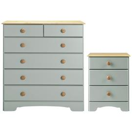 Argos Home Nordic Bedside Table & 4+2 Drawer Chest Set
