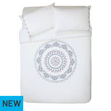 Argos Home Medallion Embroidered Bedding Set - Double