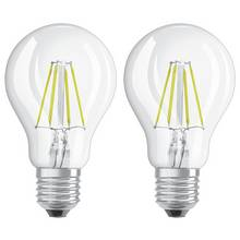 Osram 40W Filament LED Classic Glass ES GLS Bulb - Twin Pack