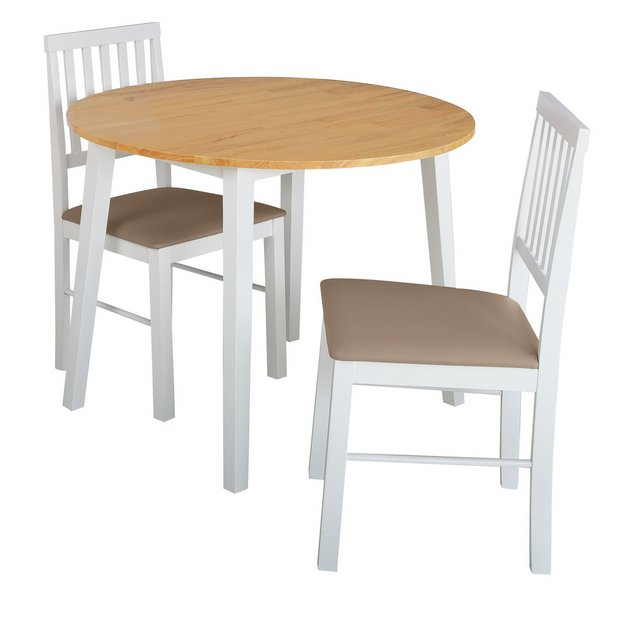 Buy Argos Home Kendal Round Drop Leaf Table 2 Chairs Two