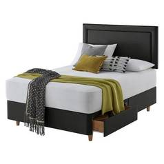 Silentnight Toulouse Charcoal Divan Bed - Double