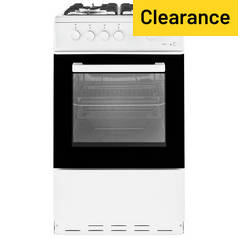 Beko KSG580W Single Gas Cooker - White