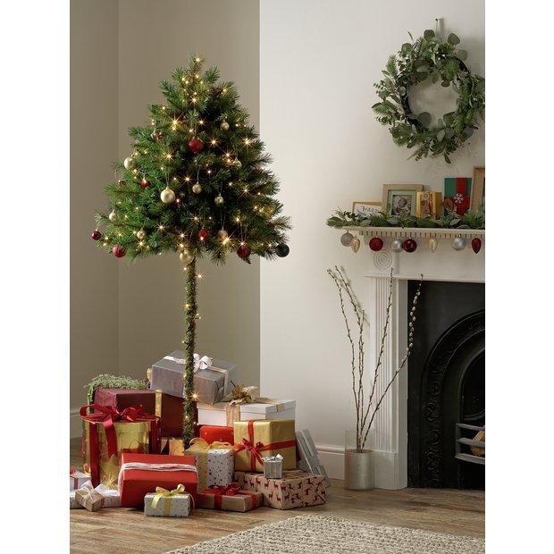 Christmas Tree Artificial.Buy Argos Home 6ft Half Parasol Christmas Tree Green Artificial Christmas Trees Argos