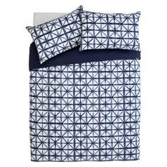 Argos Home Shibori Tile Bedding Set - Double