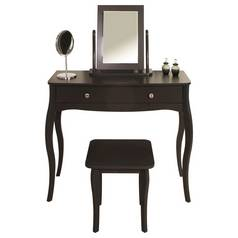 Argos Home Amelie Dressing Table, Mirror and Stool - Black