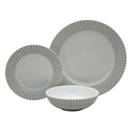 Argos Home Ditsy Dot Porcelain 12 Piece Dinner Set