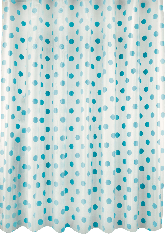 HOME Polka Dot Shower Curtain   Blue