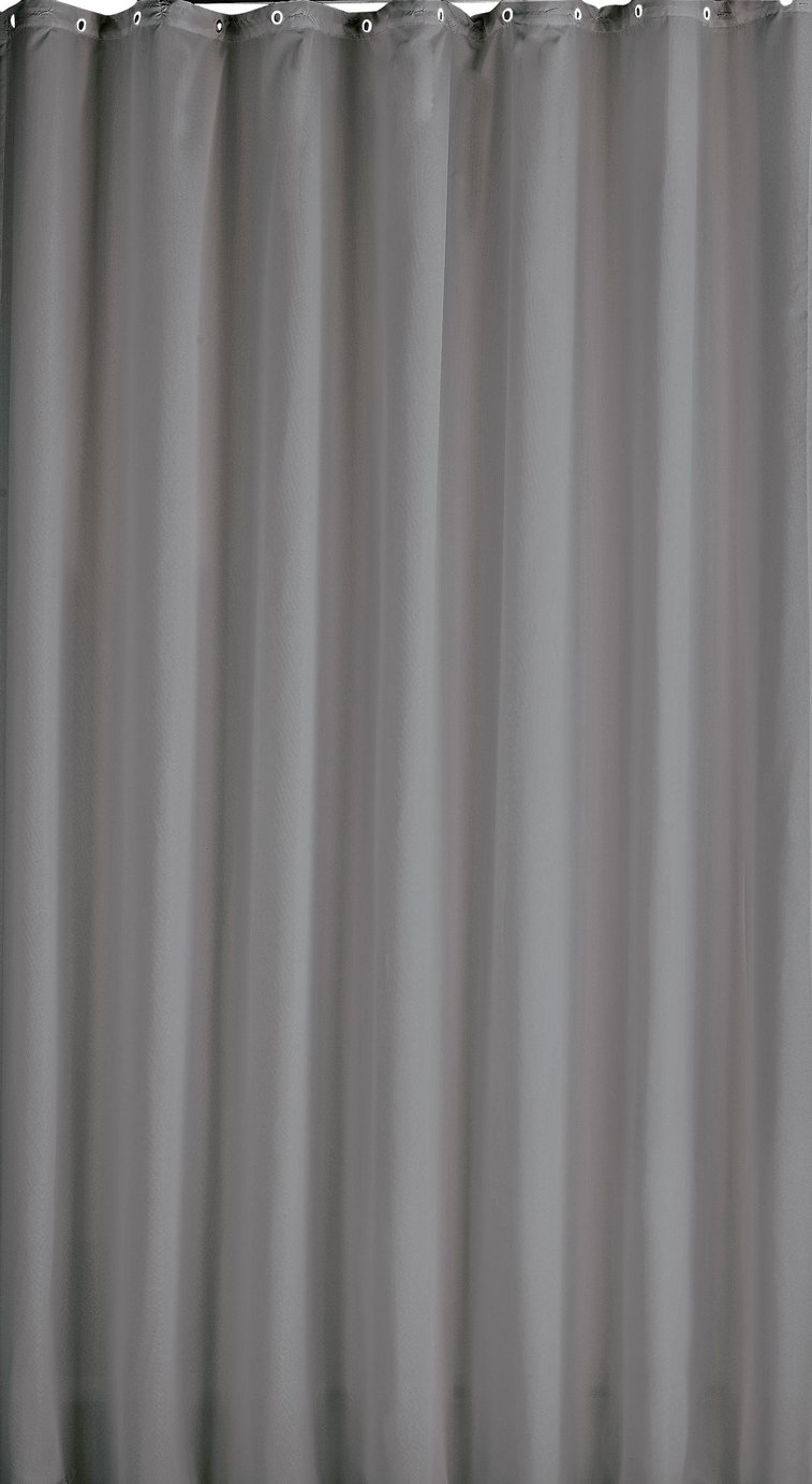 black and gray shower curtain. buy colourmatch shower curtain - flint grey at argos.co.uk your online shop for curtains and poles, bathroom accessories, home furnishings, black gray