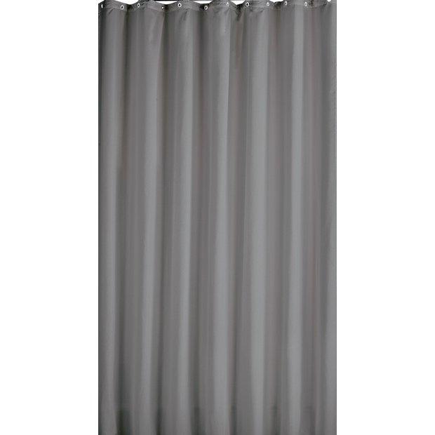 Grey shower curtain argos home fatare for Bathroom accessories argos
