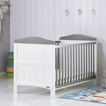 Obaby Whitby Cot Bed - White with Taupe Grey
