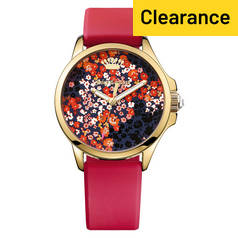 Juicy Couture Ladies' Jetsetter Dark Floral Dial Watch