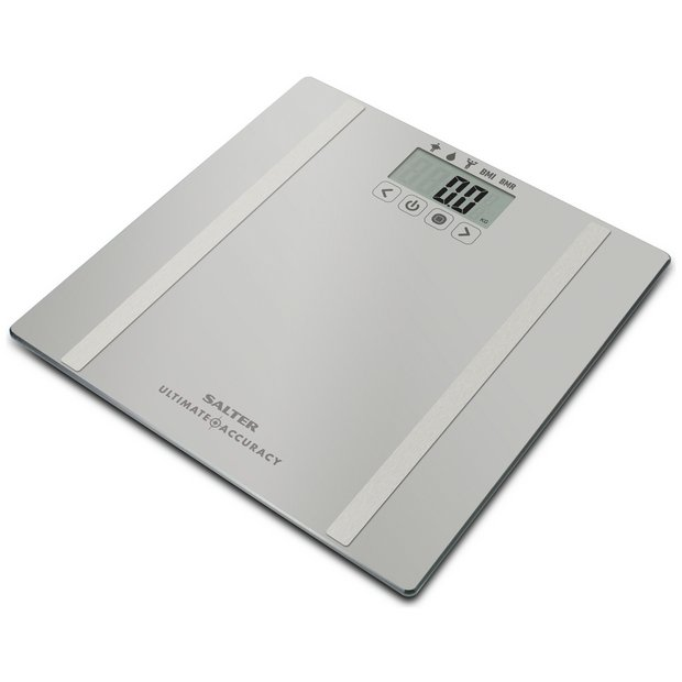 buy salter ultimate accuracy body analyser scale - silver | bathroom ...