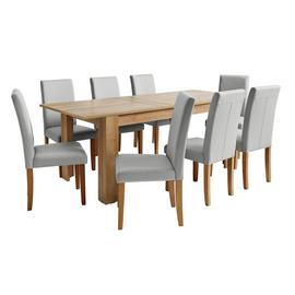 Argos Home Miami XL Oak Effect Extending Table & 8 Chairs