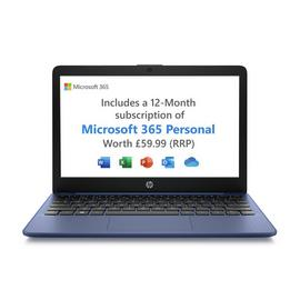 HP Stream 11.6in Celeron 2GB 32GB Cloudbook - Blue