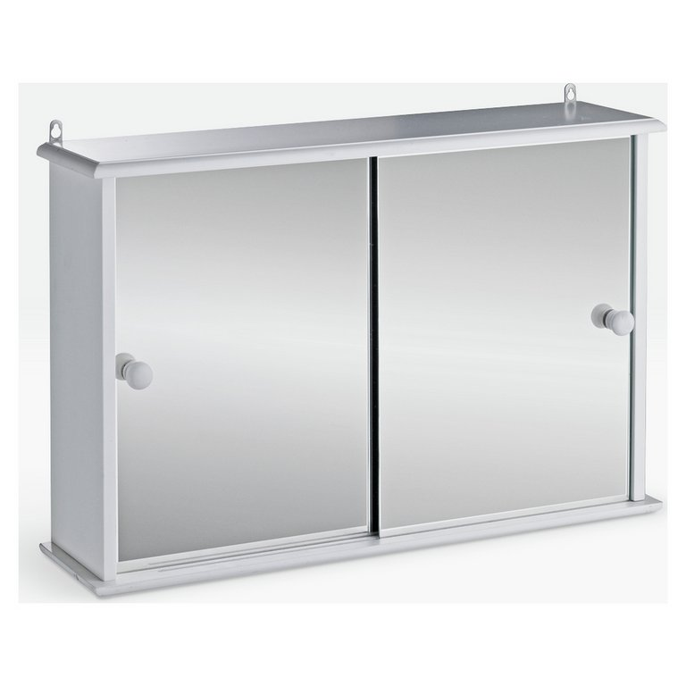 bathroom wall cabinets argos buy home sliding door bathroom cabinet white at argos co 11845