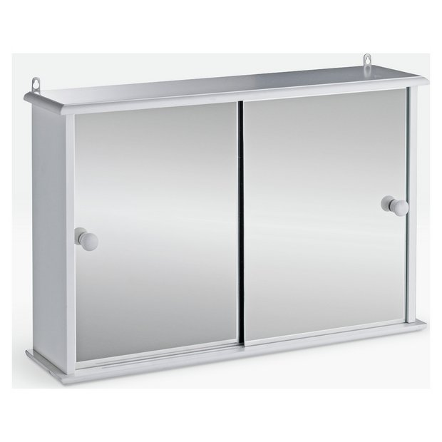 Buy home sliding door bathroom cabinet white at for Argos kitchen cabinets