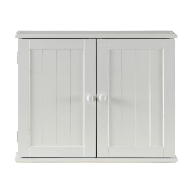 buy home tongue and groove 2 door wooden cabinet white at
