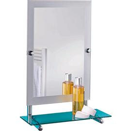 Argos Home Rect Frosted Edge Wall Mirror & Glass Shelf