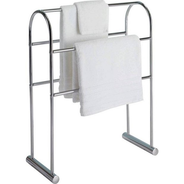 Buy home traditional 5 tier freestanding towel rail for Bathroom accessories argos