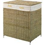 more details on HOME 120 Litre Seagrass Laundry Basket Sorter - Natural.