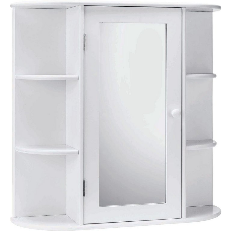 bathroom wall cabinets argos buy home mirrored bathroom cabinet with shelves white at 11845