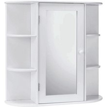 HOME Mirrored Bathroom Cabinet With Shelves