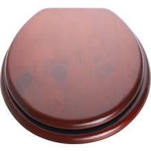 top fixing wooden toilet seat. HOME Moulded Wood Toilet Seat  Mahogany seats Argos