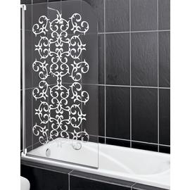 Aqualux Victorian Half Frame White Curved Shower Screen