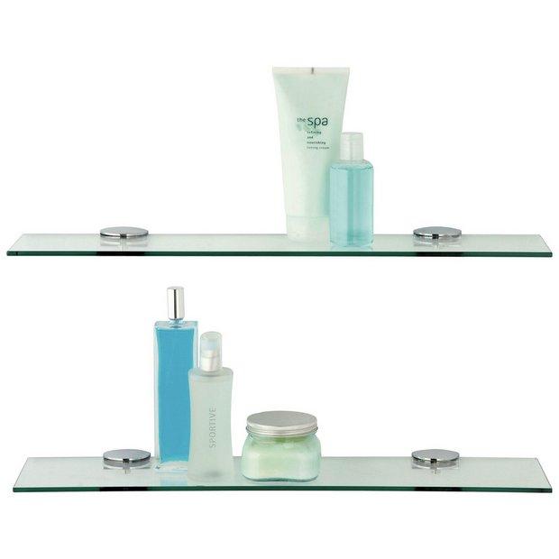 Buy Argos Home Glass Shelves Pack Of 2 Bathroom Shelves Argos