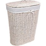 more details on HOME 75 Litre Seagrass Laundry Basket - White.