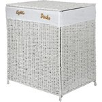 more details on HOME 120 Litre Seagrass Laundry Sorter - White.